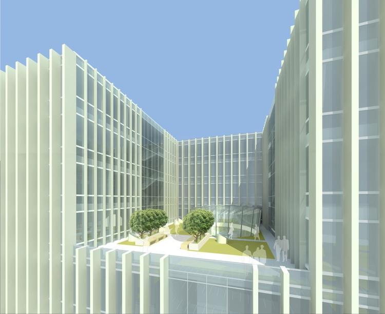 Sąd Rejonowy Katowice Wschód, półotwarte atrium