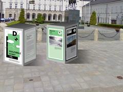Wystawa pokonkursowa przed Pałacem Prezydenckim w Warszawie