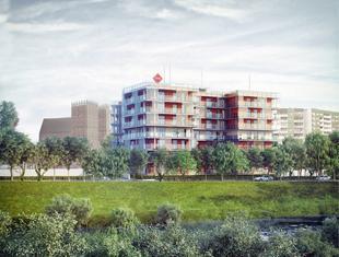 Apartamentowiec nad Odrą we Wrocławiu