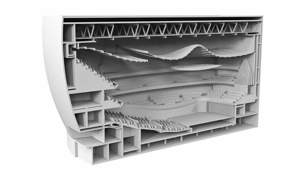 Model sali koncertowej