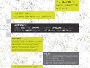 Międzynarodowa konferencja na temat projektowania parametrycznego Shapes of Logic