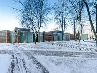 Całoroczne Centrum Sportowo-Rekreacyjne nad jeziorem Krzywym projektu Dżus G.K. Architekci