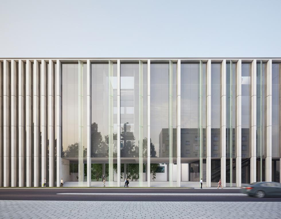 Projekt budynku Sądu Apelacyjnego we Wrocławiu