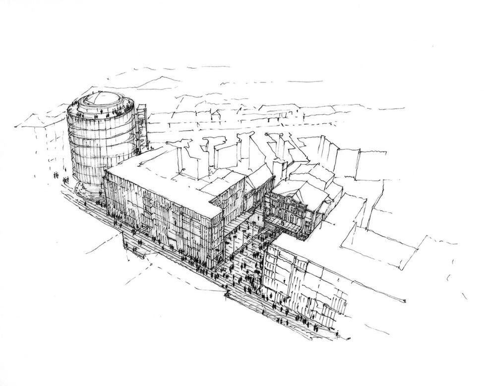 Okrąglak, szkic JEMS Architekci