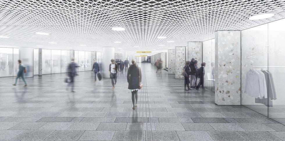 Przejścia podziemne, Dworzec Centralny