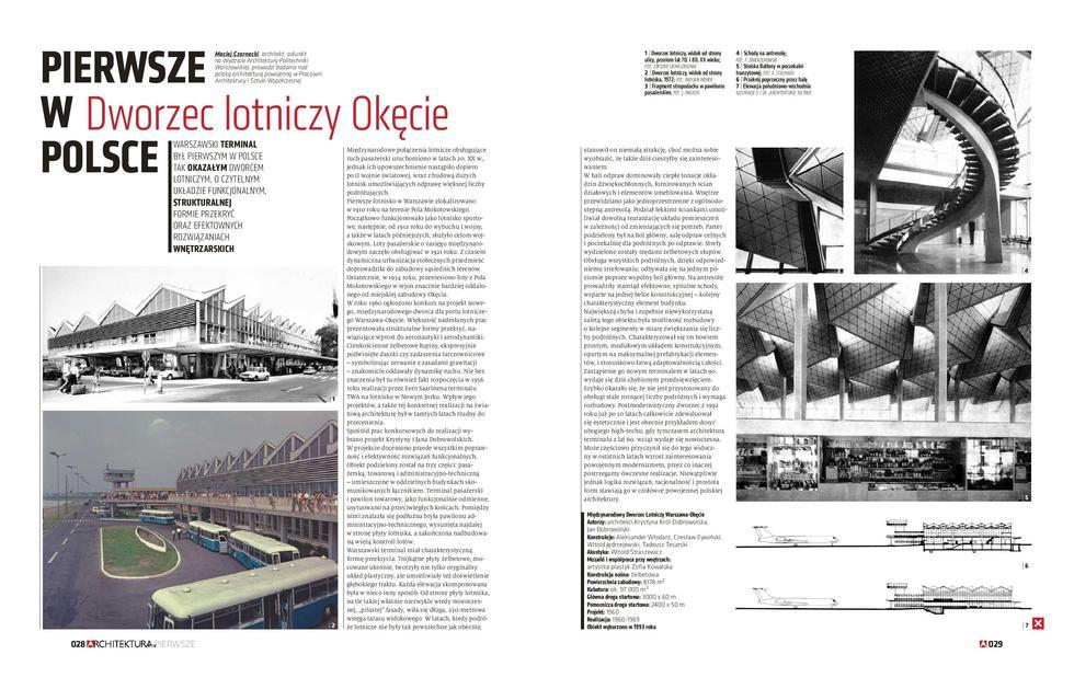 Pierwsze w Polsce: Dworzec lotniczy Okęcie