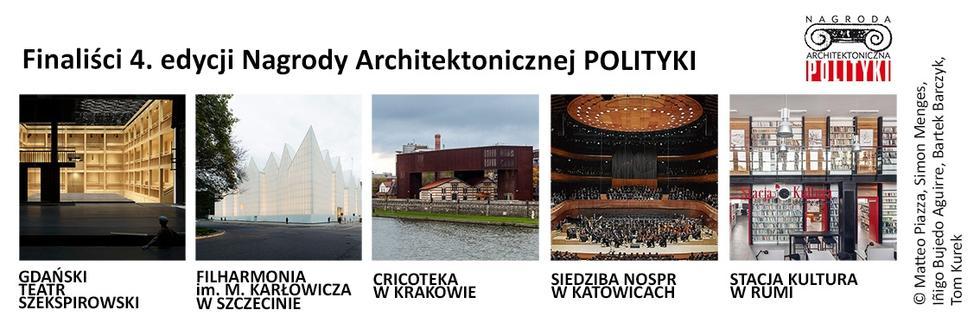 Finaliści Nagrody Architektonicznej Polityki