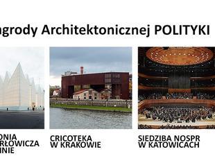 """Nominacje do Nagrody Architektonicznej tygodnika """"Polityka"""""""