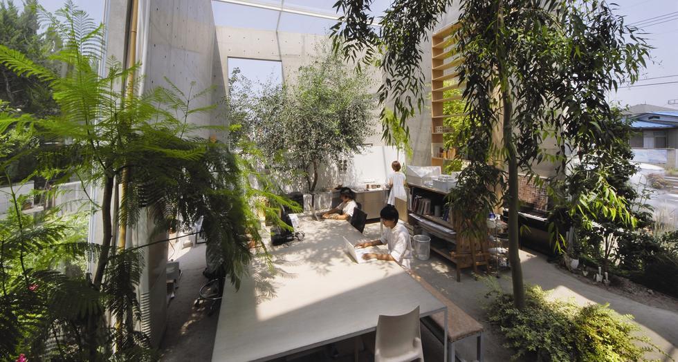 Wnętrze pracowni architektonicznej