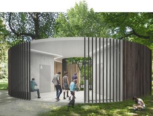 Projekt toalety publicznej w Parku Zachodnim we Wrocławiu