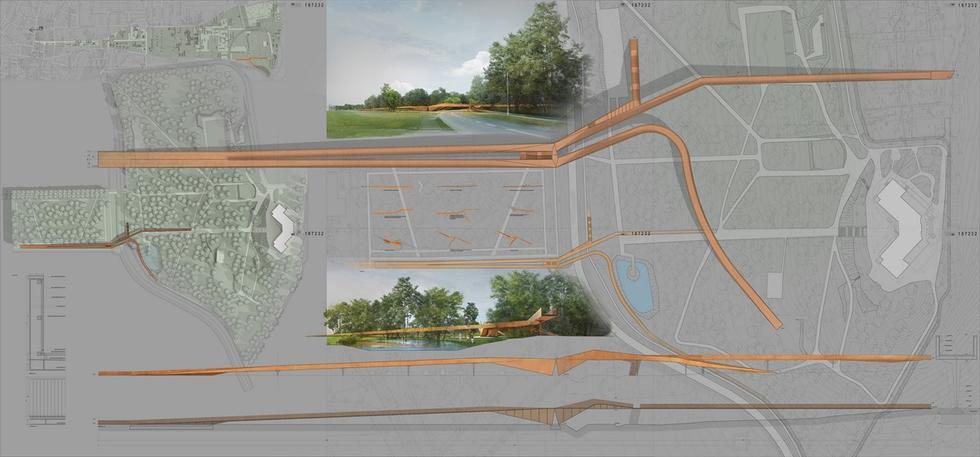 Projekt kładki pieszo-rowerowej w Busko-Zdroju
