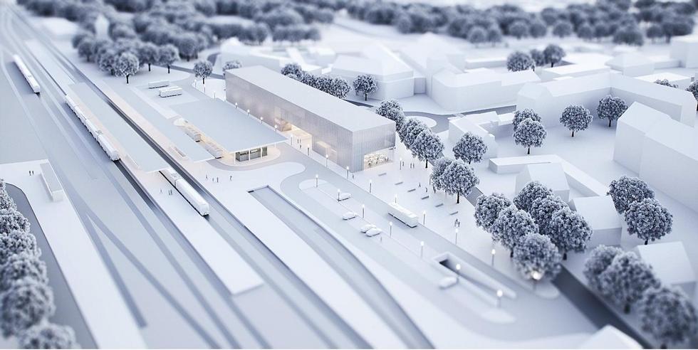 Projekt dworca kolejowo-autobusowego w Goleniowie powiązanego z centrum kultury i aktywności lokalnej