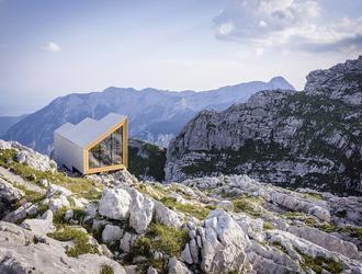 Górskie schronisko w Słowenii
