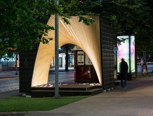 """Projektowanie parametryczne i drewno - tymczasowy pawilon """"Pauhu"""""""