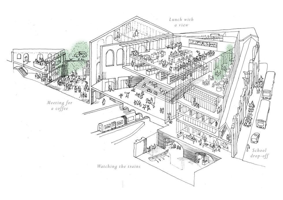 Museum of London - Institute Sketch - Stanton Williams (Copy)