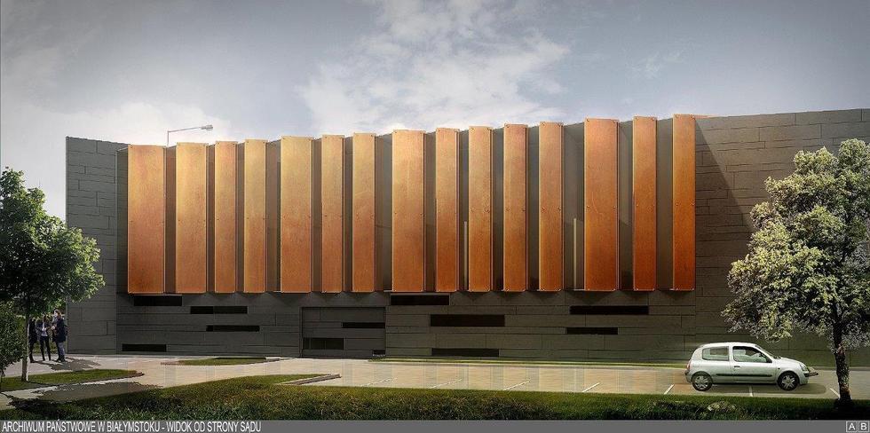 Projekt nowej siedziby Archiwum Państwowego w Białymstoku