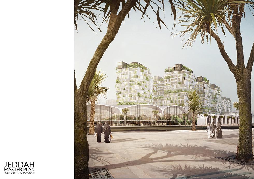 Plan nowego założenia urbanistycznego w mieście Dżudda
