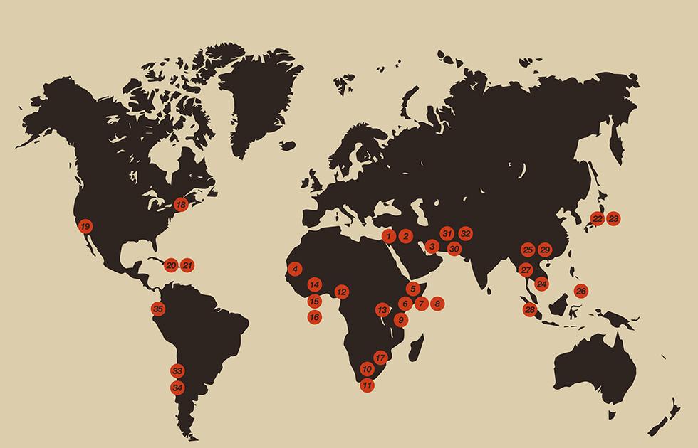 Architektura humanitarna, mapa