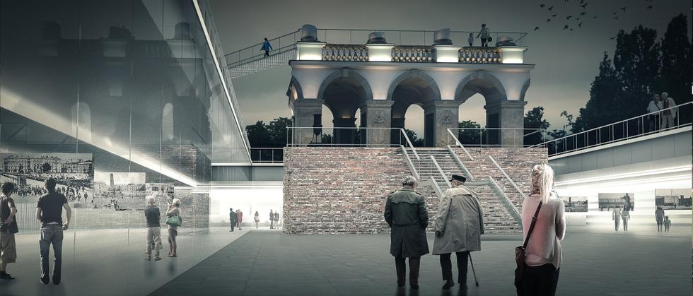 Instytut Rozbrojenia Kultury i Zniesienia Wojen na placu Piłsudskiego w Warszawie