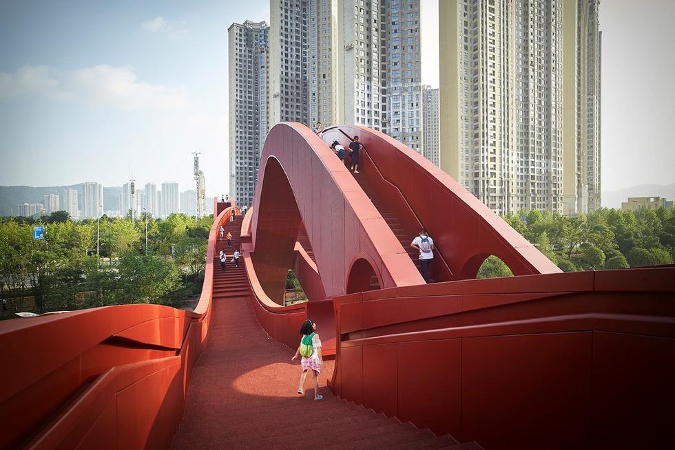 Węzeł szczęścia – piesza kładka projektu holenderskiej pracowni NEXT architects