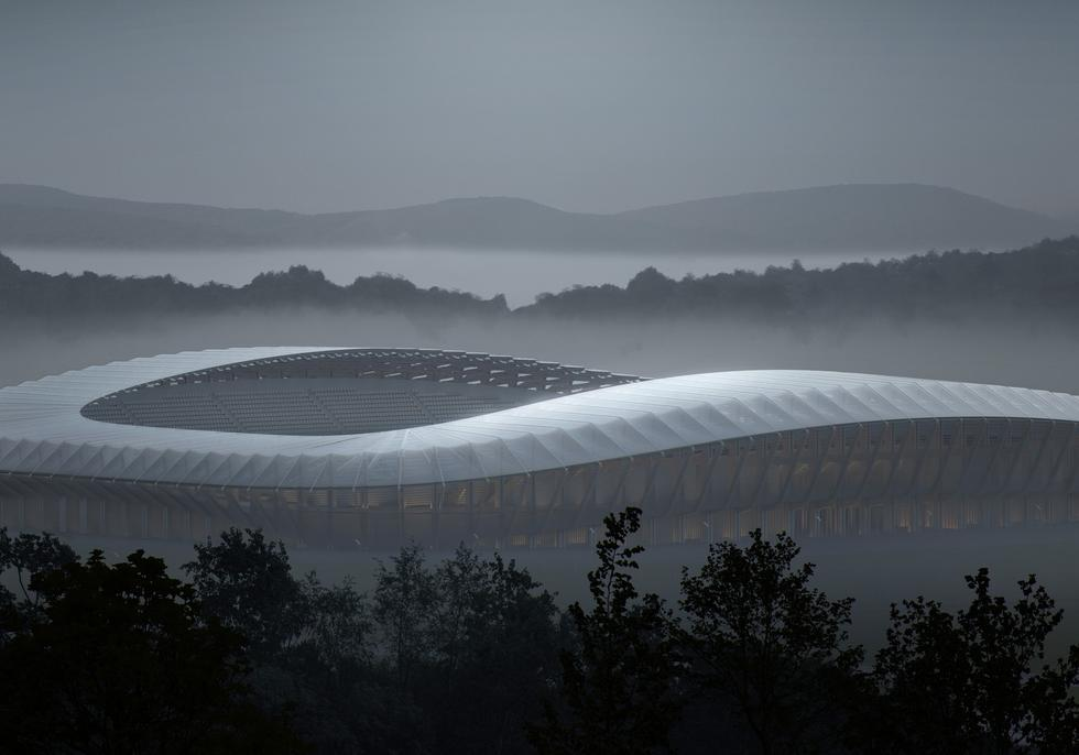Drewniany stadion od Zaha Hadid Architects