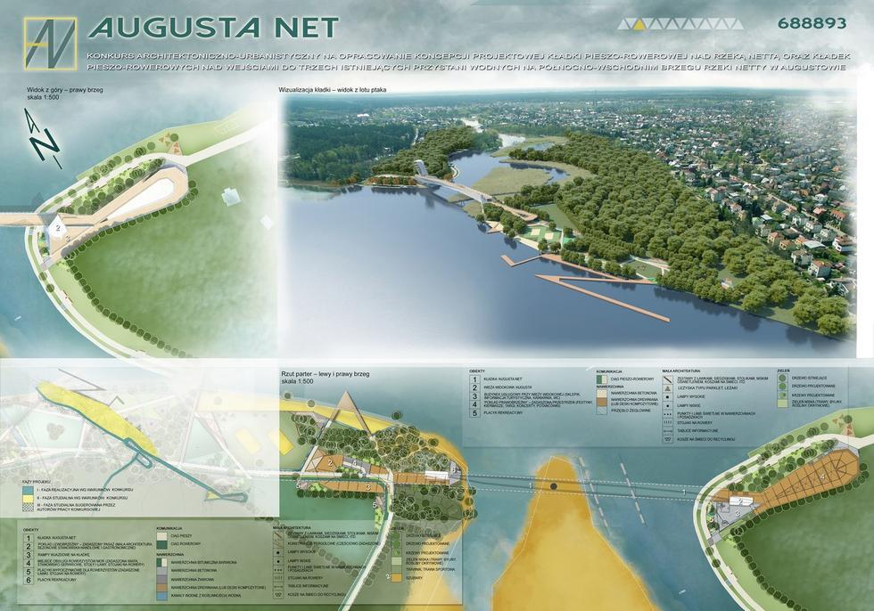 Wyniki konkursu na kładkę w Augustowie