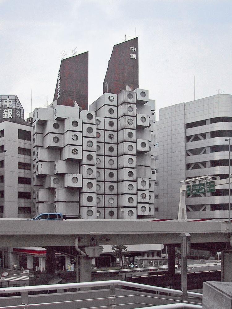 Capsule Tower w Tokio, projekt: Kisho Kurokawa