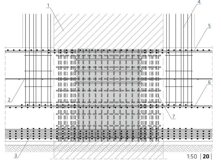 Łódź Fabryczna. Detal łączenia barety z płytą denną
