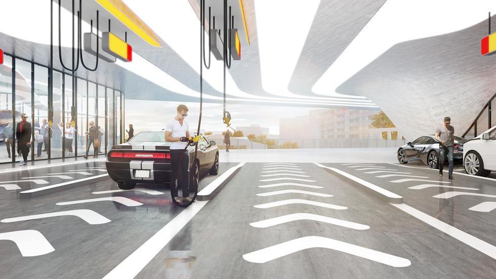 Stacja benzynowa przyszłości. Dystrybutory