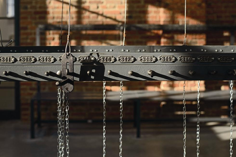 Łaźnia łańcuszkowa w Zabrzu, zachowane wyposażenie