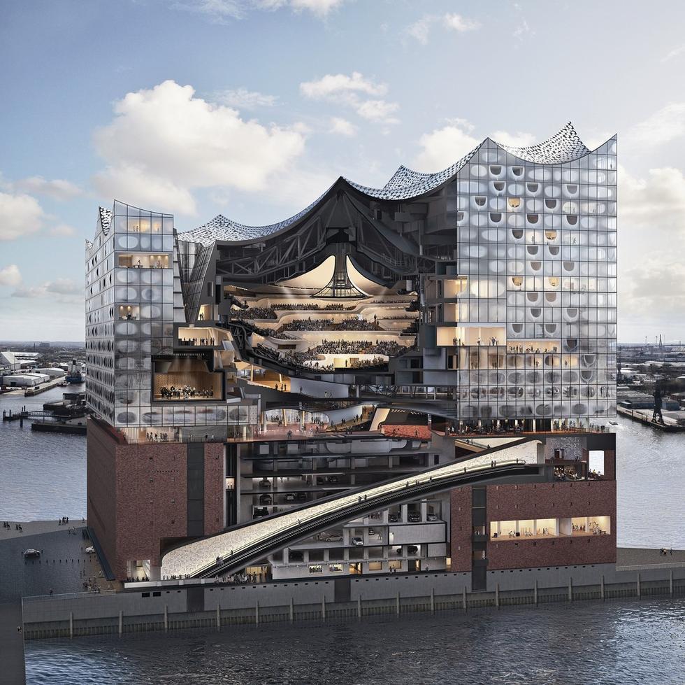 Filharmonia w Hamburgu. Schemat