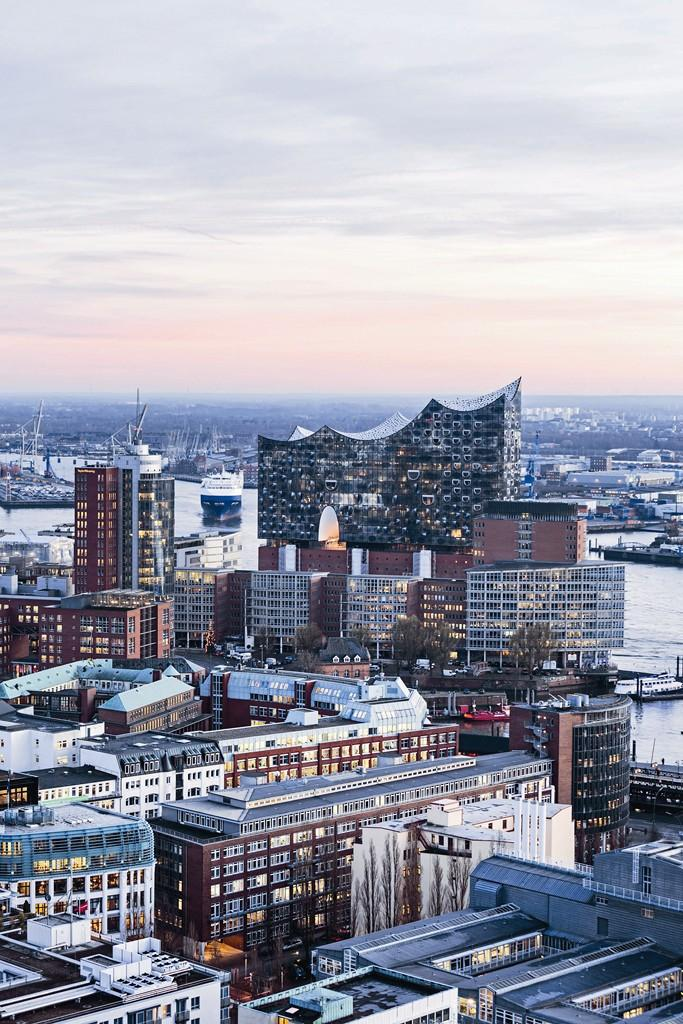 Filharmonia w Hamburgu. Panorama