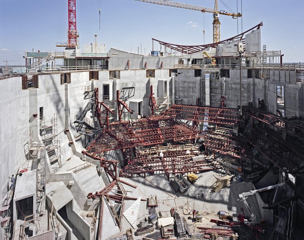 Główna sala w trakcie budowy. © Oliver Heissner