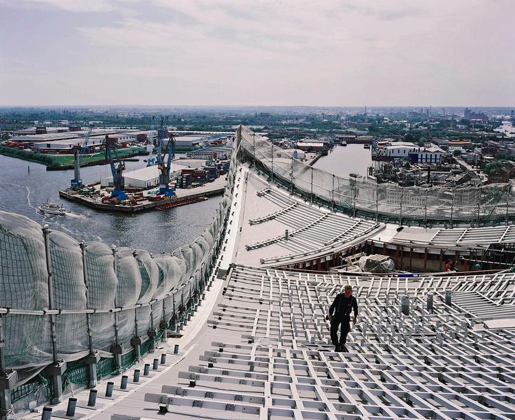 Filharmonia w Hamburgu. Stalowa konstrukcja