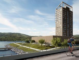 Norweski wieżowiec z drewna