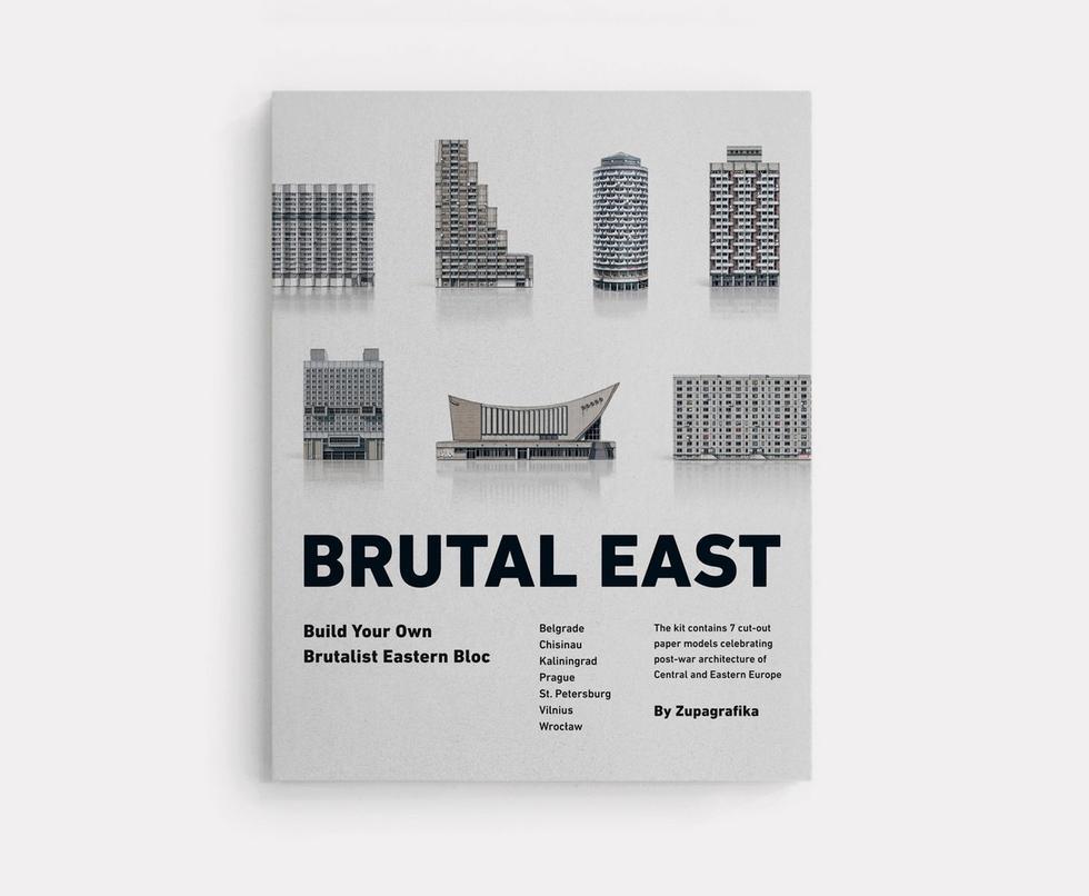 """""""Brutal East"""" - brutalistyczna wycinanka od Zupagrafika"""