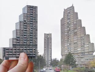 """""""Brutal East"""" - architektoniczna wycinanka inspirowana brutalizmem"""