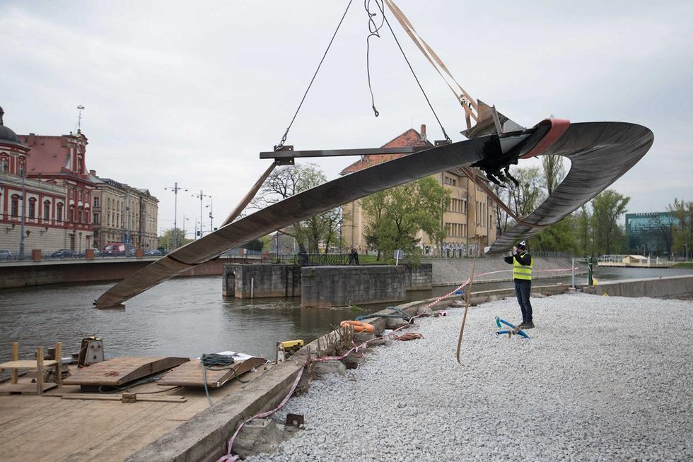 Nawa Oskara Zięty: rzeźba miejska na Wyspie Daliowej we Wrocławiu