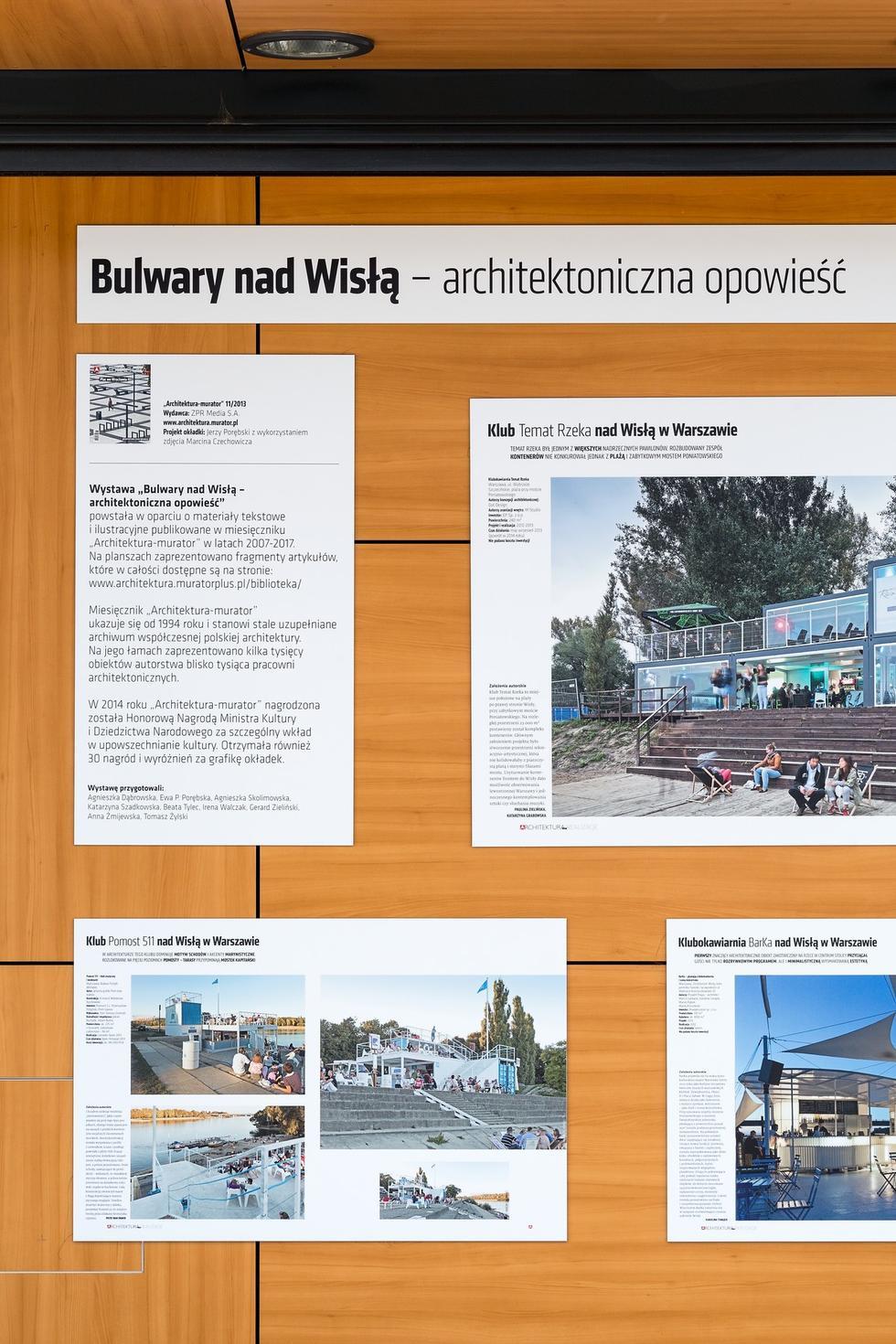 """Nadwiślańskie bulwary - wystawa """"Architektury-murator"""""""