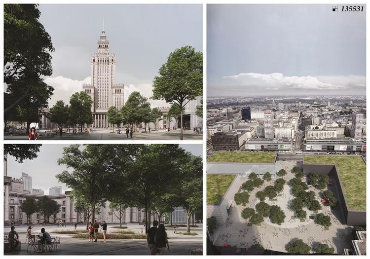 Plac Centralny – wyniki konkursu na nowy plac przed Pałacem Kultury
