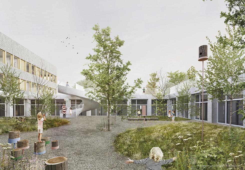 Szkoła z przedszkolem przy ul. Zaruby w Warszawie
