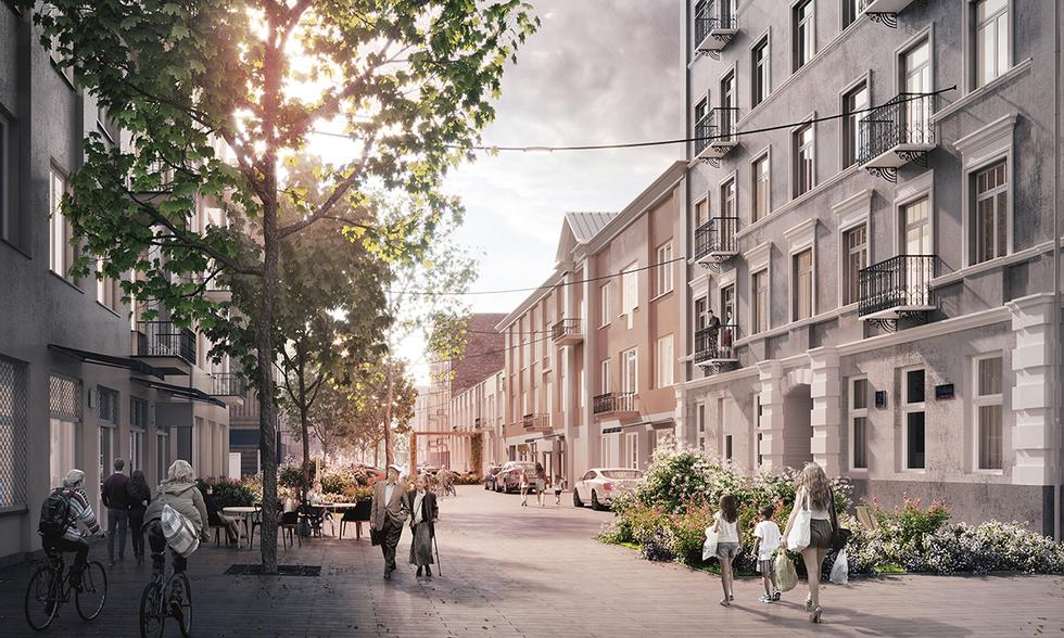 Zagospodarowanie ulic na warszawskiej Pradze