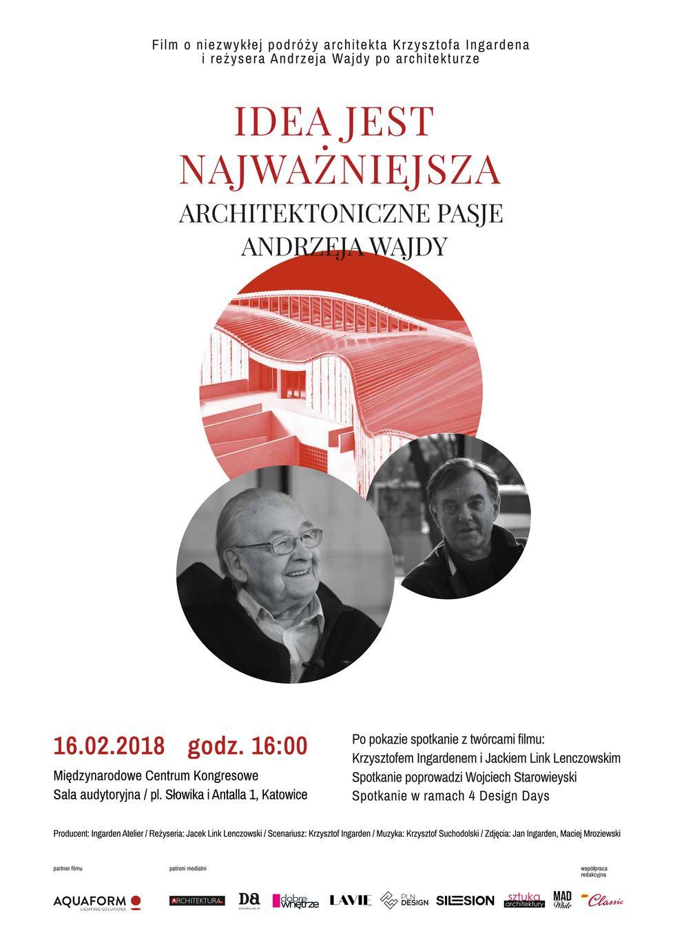 """""""Idea jest najważniejsza – architektoniczne pasje Andrzeja Wajdy"""". Pokaz filmu [ZWIASTUN]"""