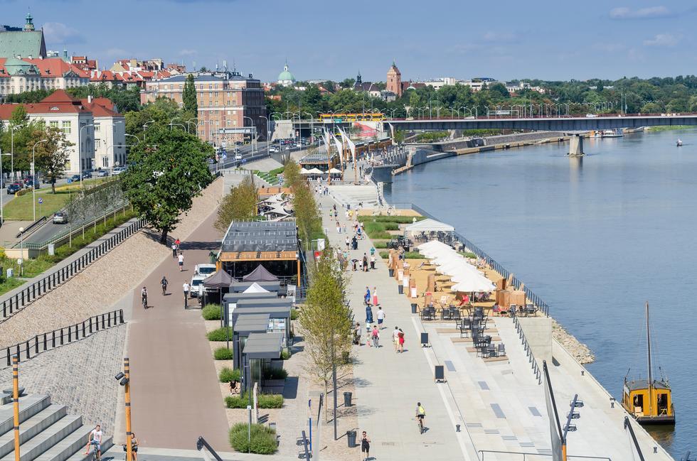Bulwary Wiślane, Warszawa fot. © Dejan Gospodarek — stock.adobe.com