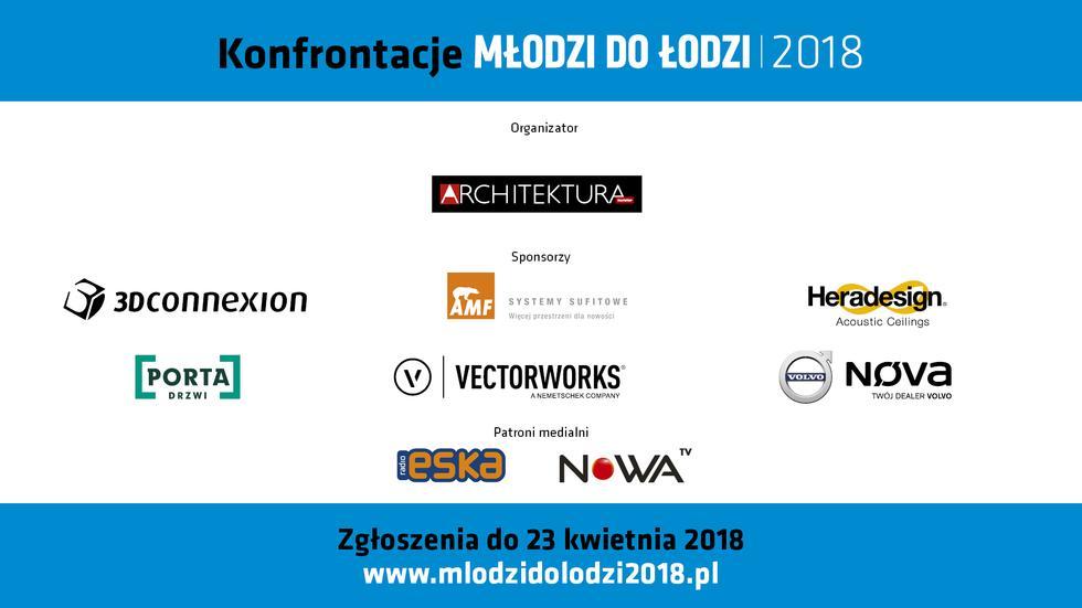 Młodzi do Łodzi belka sponsorska