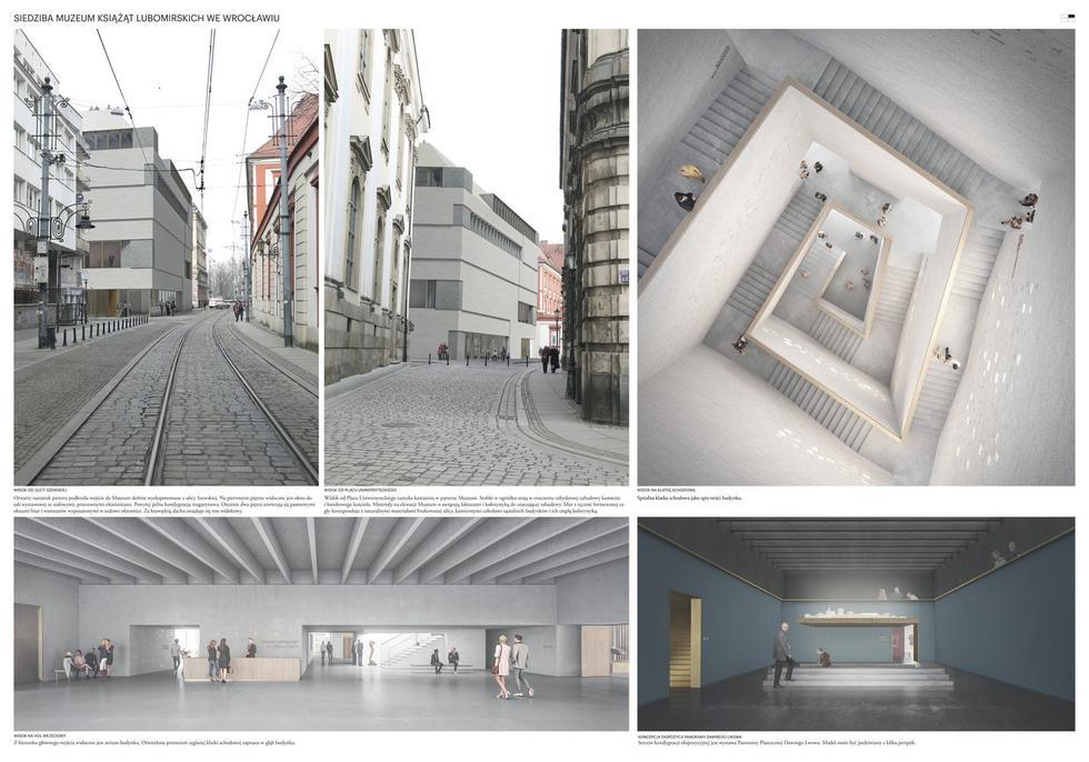Wyniki konkursu na projekt Muzeum Książąt Lubomirskich we Wrocławiu