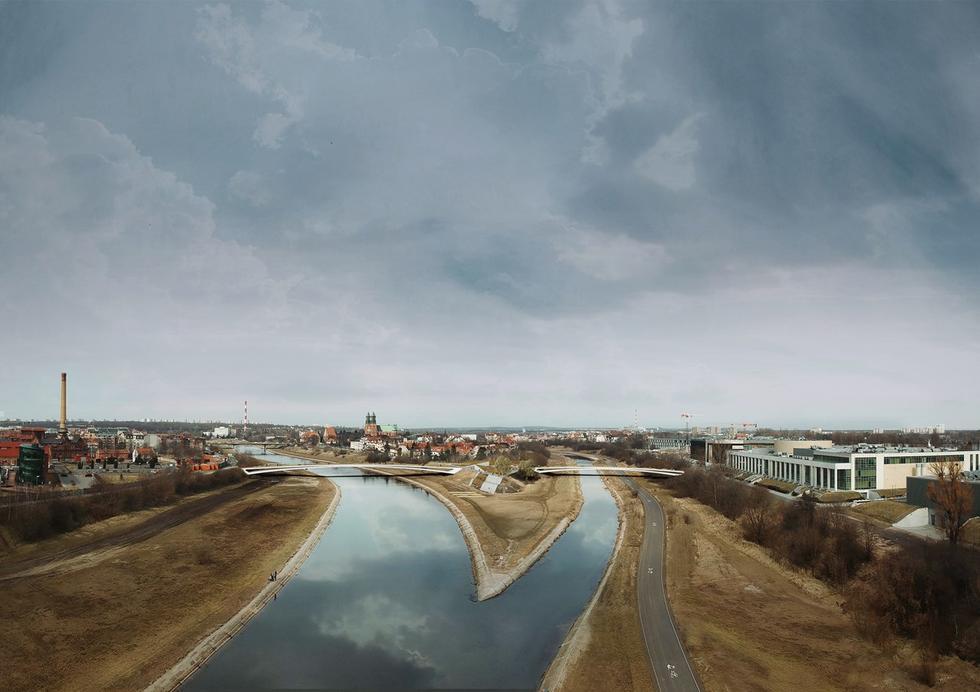 Kładka nad Wartą w Poznaniu – zwycięski projekt Architektonicznej Pracowni Autorskiej Jerzego Gurawskiego