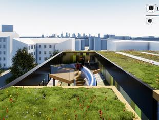 Hala sportowa jak miejski ogród według projektu biura DreamWorlds z Mysłowic