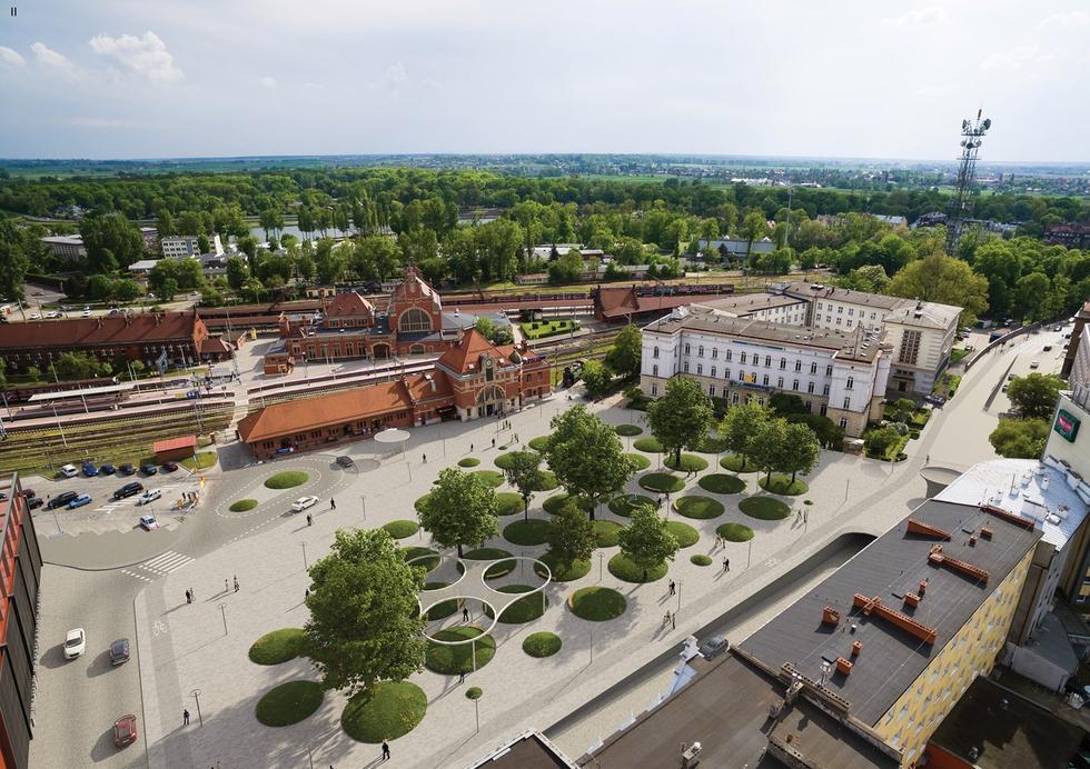 Plac Dworcowy w Opolu