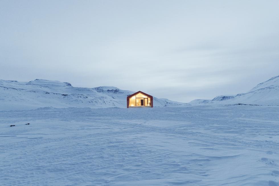 Domek dla klimatologów na Grenlandii